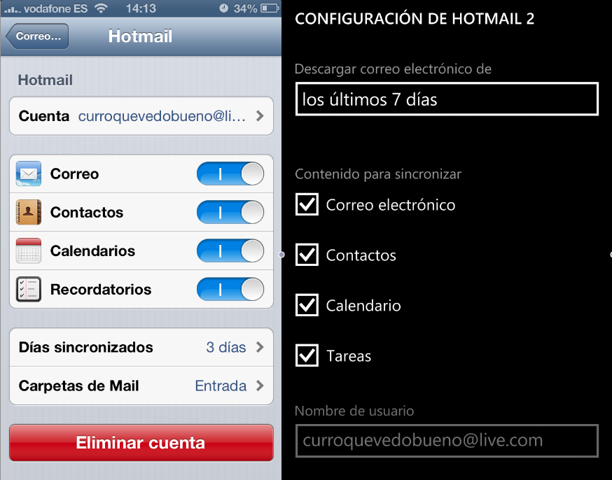 Configurar correo Windows Live iOS y Windows Phone 8