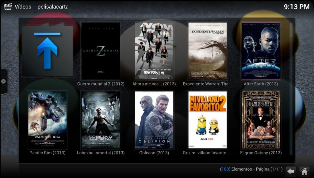 XBMC películas